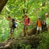 120-hiking-across-log