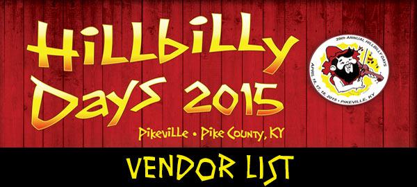 Hillbilly Days Vendor List