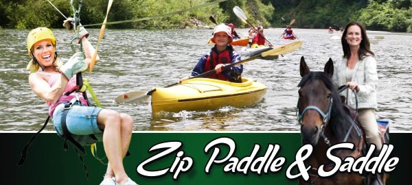 Zip, Paddle & Saddle Package