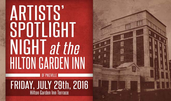 Artists' Spotlight Night at the Hilton Garden Inn