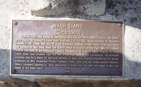 Hatfield Wash Stand marker