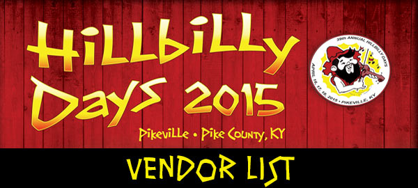 Hillbilly Days Vendor List