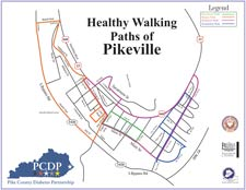 Healthy Walking Paths of Pikeville, KY Map