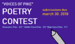 """Voices of Pike"" K-12 Poetry Contest"