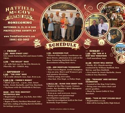 Hatfield McCoy Heritage Days Full Schedule