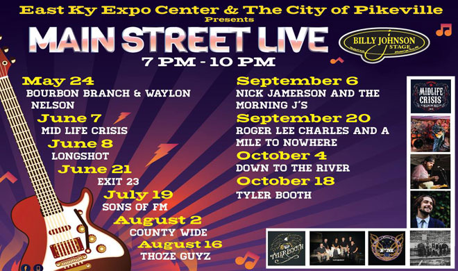Main Street Live Scheudle